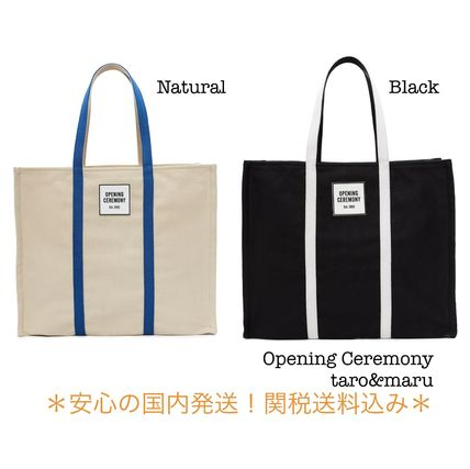 OPENING CEREMONY Casual Style Unisex Plain Totes