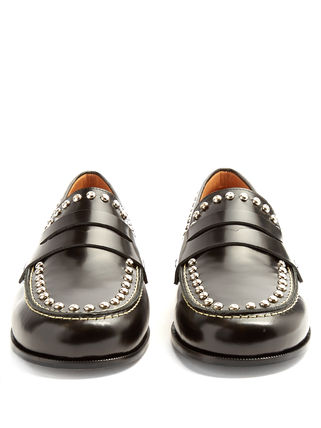 Fenzay studded decoration leather loafer