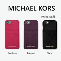 Michael Kors Plain Leather Bold Smart Phone Cases
