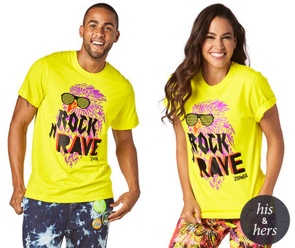 Men and women and for Rock N Rave Tee - Mell-Oh Yellow