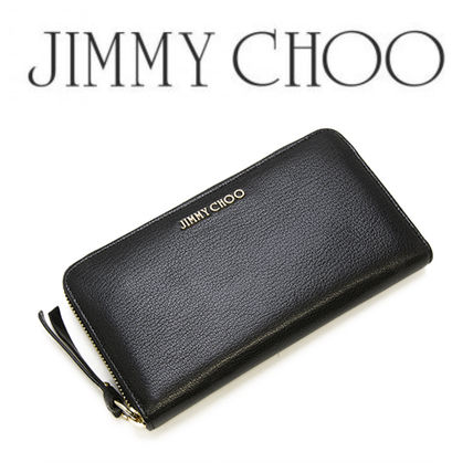 Jimmychoo gift soft grain leather long wallet