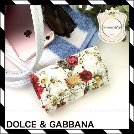 Dolce & Gabbana Floral Pattern 6 Sequential Key Case