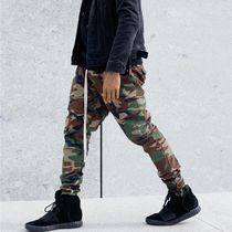 Tapered Pants Camouflage Street Style Cotton Tapered Pants