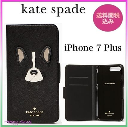 Kate spade pocketbook type leather French Bulldog iPhone 7