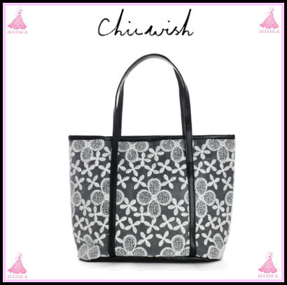 Flower Patterns Casual Style 2WAY Totes