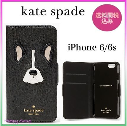 Kate spade notebook type leather french bulldog iPhone 6