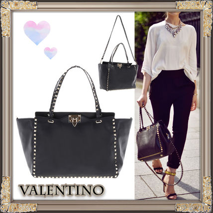17FW rock studded Shopping Bag