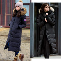 CANADA GOOSE MYSTIQUE Fur Plain Long Down Jackets