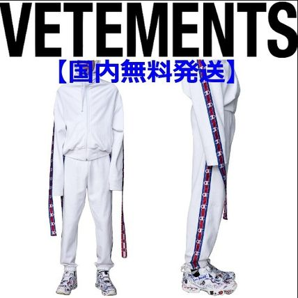 VETEMENTS VETEMENTS Champion Edition tape track pants in white