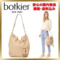 Botkier Casual Style Tassel A4 Plain Leather Totes