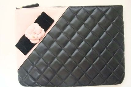 CHANEL Clutches Lambskin Bag in Bag Elegant Style Clutches