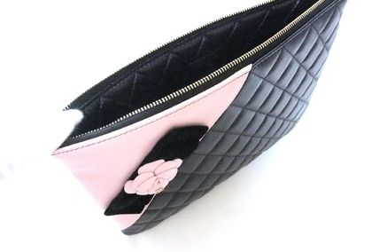 CHANEL Clutches Lambskin Bag in Bag Elegant Style Clutches 4
