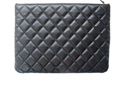 CHANEL Clutches Lambskin Bag in Bag Elegant Style Clutches 5