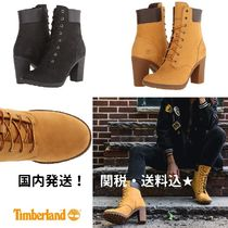 Timberland Round Toe Lace-up Casual Style Street Style Plain Leather