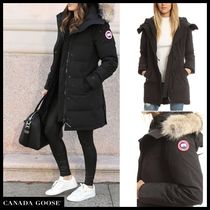 CANADA GOOSE ROSSCLAIR Fur Blended Fabrics Plain Medium Elegant Style Down Jackets