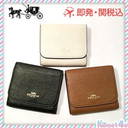 Leather three bifold wallet with F57584