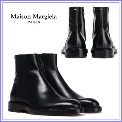 Maison Margiela boots black leather heel 3.5
