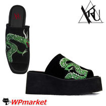 YRU Open Toe Platform Other Animal Patterns Shower Shoes