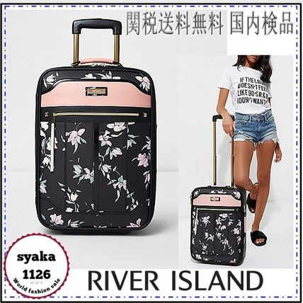 RiverIsland travel to floral suitcase