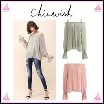 Chicwish Casual Style Plain Bandeau & Off the Shoulder