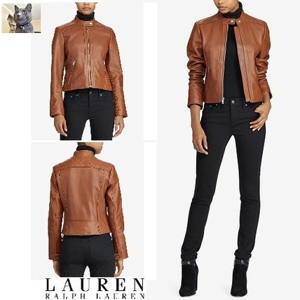 Cuoio quilting leather jacket