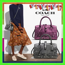 Coach MERCER 2WAY Plain Leather Elegant Style Handbags