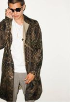 Louis Vuitton Camouflage Street Style Long Coats