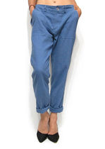 Casual Style Linen Plain Cropped & Capris Pants