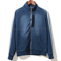 Short Denim Street Style Plain MA-1 Bomber Jackets
