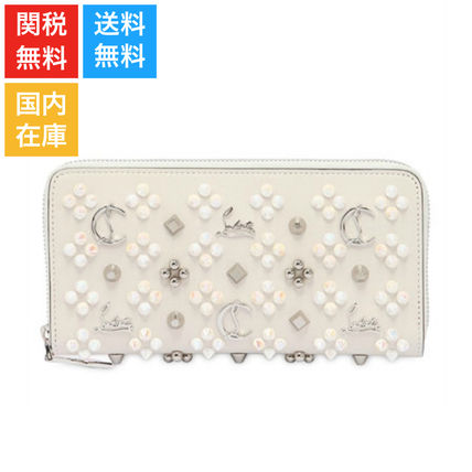 P ANET TONE studded leather WALLET long wallet