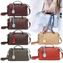 FENDI BY THE WAY Calfskin 3WAY Bi-color Plain Elegant Style Shoulder Bags