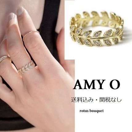 AMY O Costume Jewelry Casual Style 14K Gold Rings