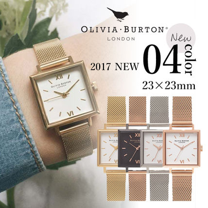 Square Quartz Watches Elegant Style Analog Watches