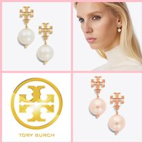 Tory Burch Costume Jewelry Party Style Brass 18K Gold