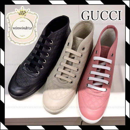 GUCCI Monoglam Casual Style Low-Top Sneakers