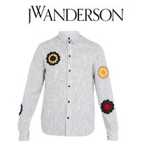 J W ANDERSON Stripes Street Style Long Sleeves Cotton Shirts