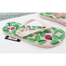 havaianas Tropical Patterns Open Toe Rubber Sole Casual Style