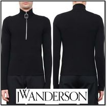 J W ANDERSON Pullovers Wool Street Style Long Sleeves Plain