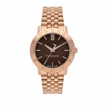Round Stainless With Jewels Elegant Style Analog Watches