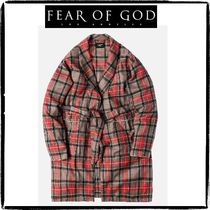 FEAR OF GOD Other Check Patterns Street Style Long Chester Coats