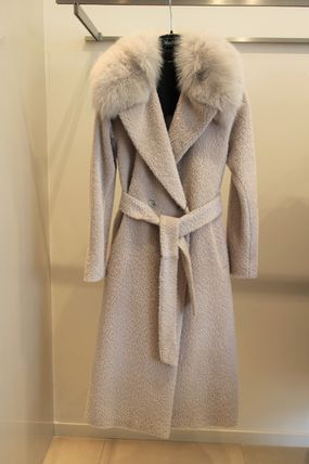 DEA MAX MARA STUDIO alpaca wool mixed with fur coat