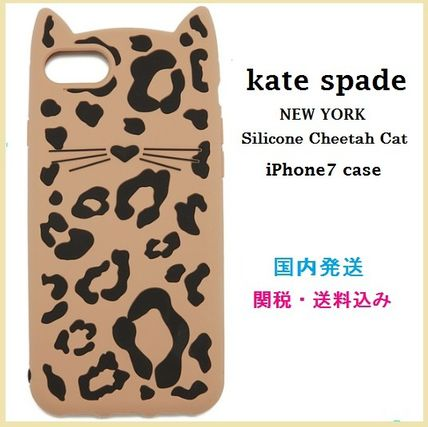 kate spade new york Leopard Patterns Silicon Smart Phone Cases