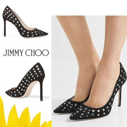 Romy, laser-cut suede & leather pumps