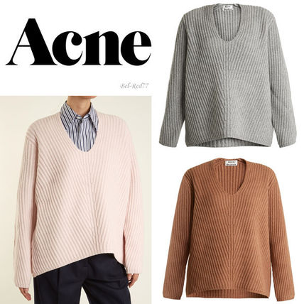 STUDIOS oversize V neck wool sweaters