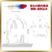 BUSCEMI Casual Style Unisex 2WAY Plain Crystal Clear Bags