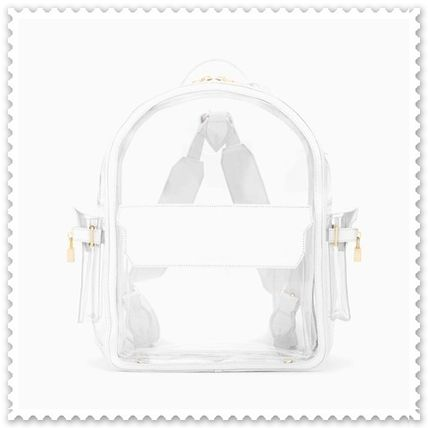 Casual Style Unisex 2WAY Plain Crystal Clear Bags