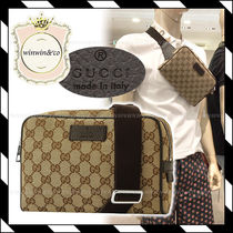 GUCCI Monogram Canvas Crossbody Bag Belt Bags