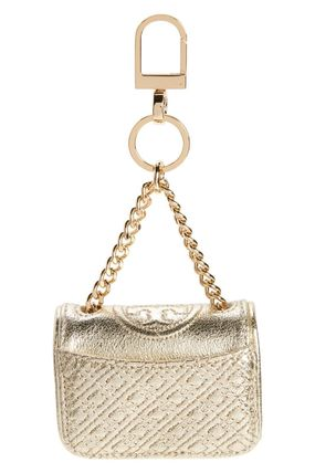 Key ring with bag type charm Gold