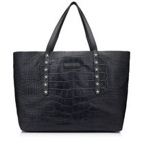 Jimmy Choo Star Studded A4 Other Animal Patterns Leather Totes
