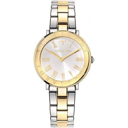 Casual Style Metal Round Quartz Watches Analog Watches